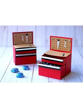 Svg File: 3 D Paper Tool Chest Gift Box With Drawers | Father's Day Svg | Instant Digital Download by Etsy