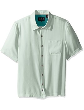 Nat Nast Men's Solid Traditional Fit Silk Blend Short Sleeve Shirt by Nat Nast