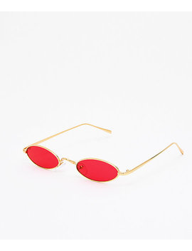 Golden Road Red &Amp; Gold Mini Sunglasses by I Sea
