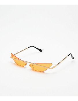 Heat Orange Mini Cateye Sunglasses by I Sea