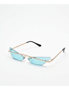 Heat Turquoise Mini Sunglasses by I Sea