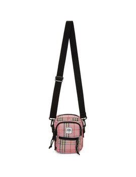 Pink & Black Plaid Messenger Bag by Opening Ceremony