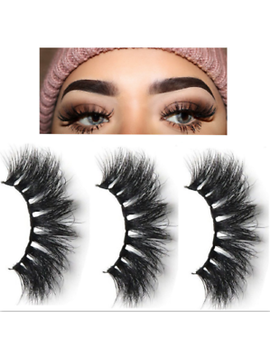 3 D Mink Eyelashes 1/5 Pairs Natural L False Long Thick Hand Made Lashes Makeup by Unbranded