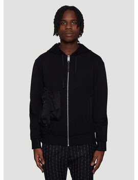 Hooded Chest Pocket Sweater In Black by 1017 Alyx 9 Sm