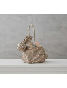 Silver Rope Bunny Shaped Basket by Pottery Barn Kids