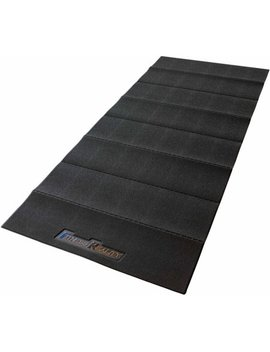 Fitness Reality Water Resistant Pvc Exercise Equipment Mat, Black by Fitness Reality