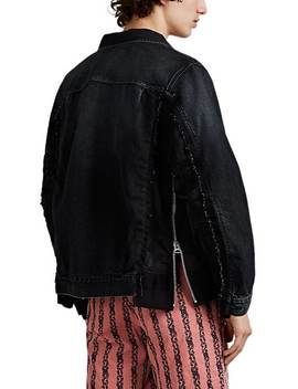 Tech Twill Inset Denim Trucker Jacket by Sacai