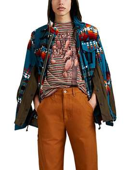 Geometric Print Cotton Corduroy Jacket by Sacai