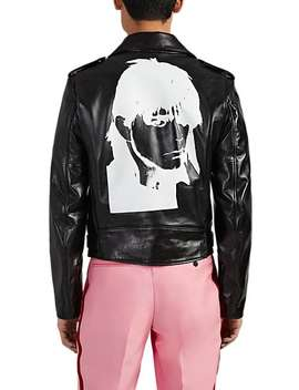 """Stephen Sprouse"" Leather Moto Jacket by Calvin Klein 205 W39 Nyc"