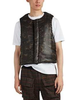 Padded Wool Blend Vest by Junya Watanabe Man Comme Des Garçons