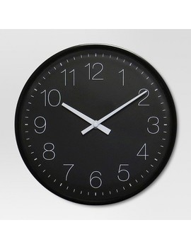 """10"""" Round Wall Clock Black   Project 62™ by Shop This Collection"""
