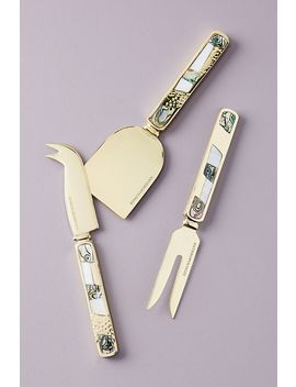 Set Of 3 Mina Cheese Knives by Anthropologie