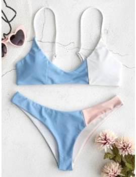 Zaful Color Block Bikini Set   Multi S by Zaful