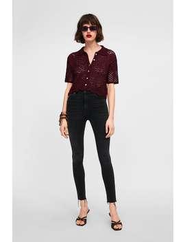 Traperice Zw Premium High Waist Shadow Black  Visoki Struk Jeans Žene by Zara