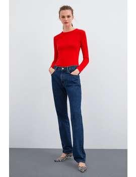 Textured Henley T  Shirtt Shirts Woman by Zara
