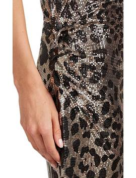Leopard Print Metal Mesh Dress by Paco Rabanne