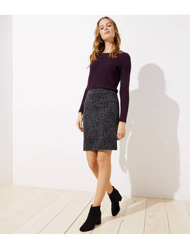 Floral Jacquard Pencil Skirt by Loft