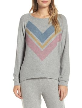 Lounge Essentials Chevron Pullover by Pj Salvage