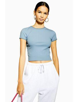 Picot Trim T Shirt by Topshop