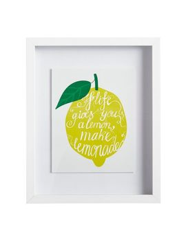 Life Hands You Lemons Framed Small Wall Art by Pier1 Imports