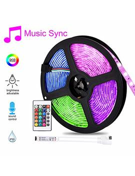 Hangrui Led Strip Lights Led Lights Sync To Music 16.4 Ft/5 M Led Light Strip 300 Led Lights Smd 5050 Waterproof Flexible Rgb Strip Lights Ir Controller+12 V 3 A Power (Indoor String Lights) by Hangrui