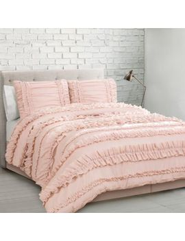 Lush Décor Belle 4 Piece Full/Queen Comforter Set In Blush by Bed Bath And Beyond
