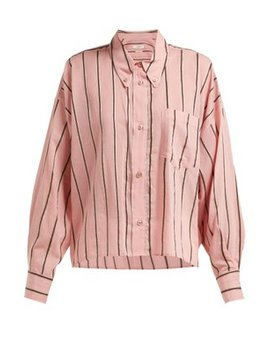 Ycao Striped Cotton Blend Shirt by Isabel Marant Étoile