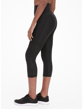Gap Fit High Rise Print Capris In Sculpt Revolution by Gap