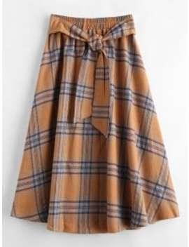 Zaful A Line Plaid Skirt   Multi Xl by Zaful