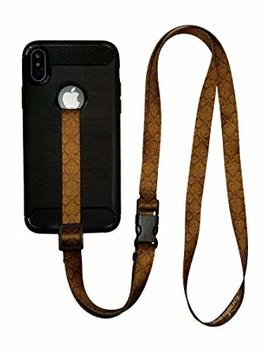 Foneleash 3 In 1 Universal Cell Phone Lanyard Neck Wrist And Hand Strap Tether (Brown) by Foneleash