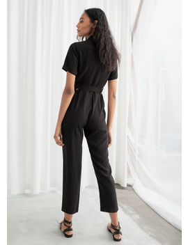 Belted Lyocell Jumpsuit by & Other Stories