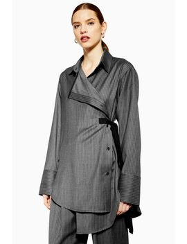 **Tailored Wool Wrap Shirt By Boutique by Topshop