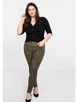 Super Slim Leopard Print Jeans by Mango