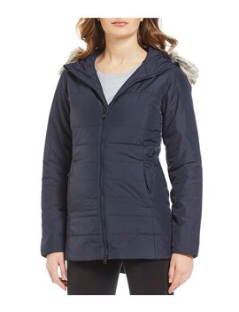 Urban Exploration Harway Insulated Zip Front Faux Fur Trim Hood Parka by The North Face