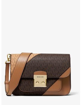 Sloan Editor Tri Color Logo And Leather Shoulder Bag by Michael Michael Kors