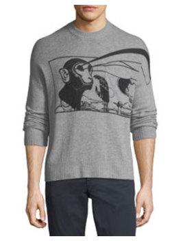 Laser Stencil Cashmere Sweater by Prada