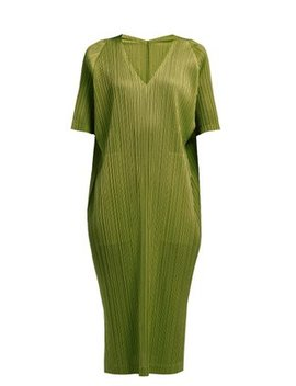 Oversized Pleated Midi Dress by Pleats Please Issey Miyake
