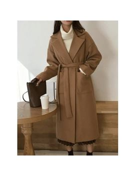 Masandchris   Open Front Long Coat With Sash by Masandchris