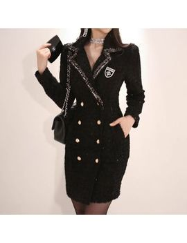 Aurora   Double Breasted Coat Dress by Aurora