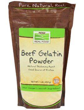 Now Foods Beef Gelatin Natural Powder 1 Lb by Now Foods