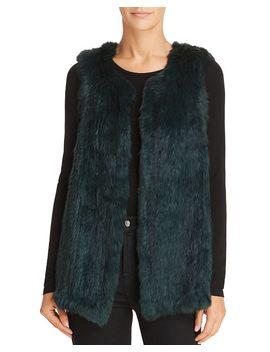Rabbit Fur Vest   100 Percents Exclusive by 525 America