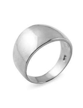 Cigar Ring Band In High Polish 925 Sterling Silver by Modern Contemporary Rings
