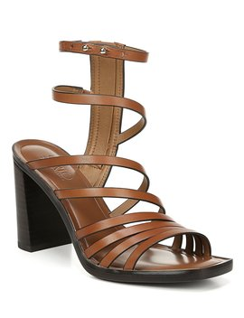 Sarto By Franco Sarto Leather Block Heel Winnie Sandals by Franco Sarto
