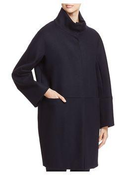 Danza Virgin Wool Funnel Neck Coat by Weekend Max Mara