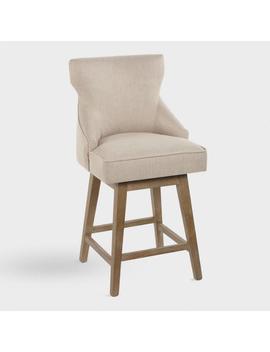 Upholstered Swivel Landon Counter Stools Set Of 2 by World Market