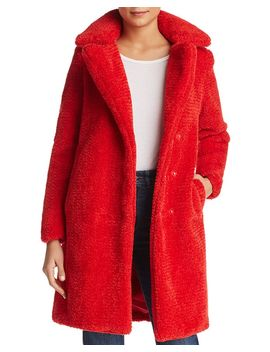 Lala Faux Fur Teddy Coat by Vero Moda