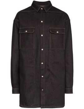 Denim Shirt Jacket by Rick Owens