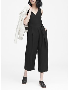 Cropped V Neck Jumpsuit by Banana Repbulic