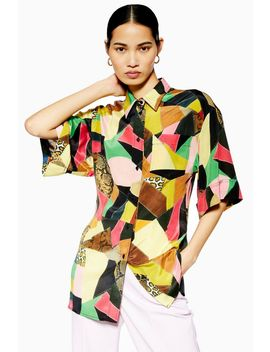 **Silk Patchwork Shirt By Boutique by Topshop