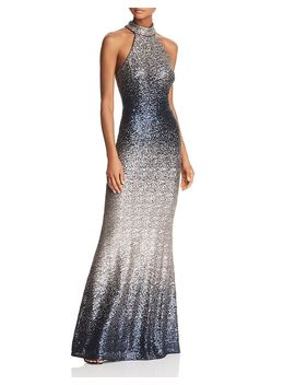 Ombré Sequined Gown   100 Percents Exclusive by Aqua